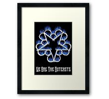 Fiery Chrome Black Veil Brides Star - We Are The Outcasts Framed Print