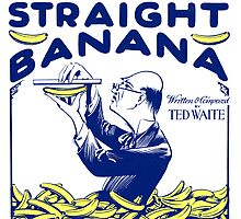 IV NEVER SEEN A STRAIGHT BANANA (vintage illustration) by ART INSPIRED BY MUSIC