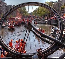 Queens Day in Amsterdam by Harrie Haaima