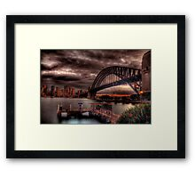 Sunset Sydney Harbour Bridge- VIVID Festival  Framed Print
