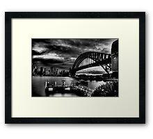 Sydney Harbour Bridge HDR B&W Framed Print