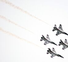 Air Force Thunderbirds Inverted Flying by Judson Joyce