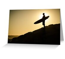 Surfer watching the waves Greeting Card