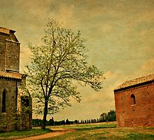 Springtime at San Galgano-Tuscany by Deborah Downes