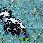 Cut Paper Animal Collage: Skunk by chillchey