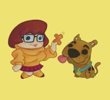 Lil' Velma & Scooby by Mark Sheard