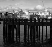 St. Paul's With A Pier by Don McGowan