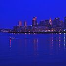 Boston skyline at night by michael6076