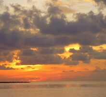 Sunset in Sabah, Malaysia by Angela Gannicott