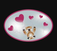 Teddy with heart-balloons Kids Clothes
