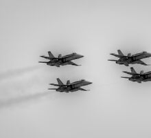 F/A-18 Formation by Peter Whitworth