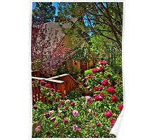 Cottage Rose Garden Poster