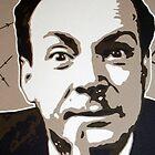 Richard P Feynman by Dan Carman