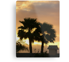 Two Palm Trees in the Sunset Metal Print