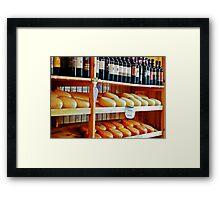Wine and Pecorino Cheese Shop Framed Print