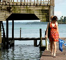 Tegan & Andrea walk the pier by Abby Lewtas