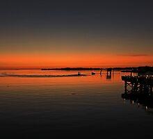 Sunset at Cedar Key by Suzi Harbison