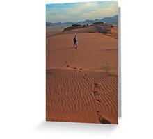Walking Wadi Rum Greeting Card