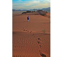 Walking Wadi Rum Photographic Print