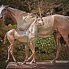 Mare and Foal Sculpture (La Reyna) by TonyCrehan