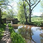View of the Brecon to Monmouthshire canal. by Robert Lewis