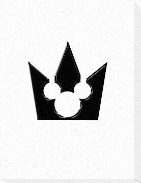 Kingdom Hearts Mickey Crown Poster by Tanner Johnston