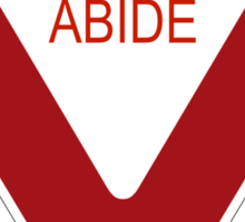 Abide [Tee & Case] Sticker
