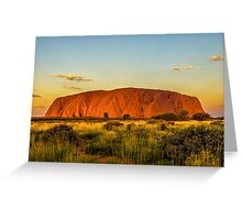 Sunset at the Rock Greeting Card