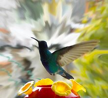 Hummingbird Series IX by Al Bourassa