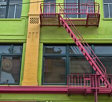 Pink and Green in Chinatown by Monique Wajon