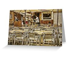Chairs and Umbrellas Greeting Card
