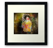 """""""As a pomegranate, cut in twain, White-seeded is her crimson mouth.""""~Oscar Wilde Framed Print"""