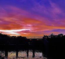 Sunset Bridge by Mike Leinwand
