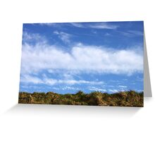 Above, the sky Greeting Card