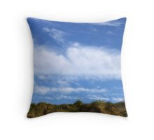 Above, the sky Throw Pillow