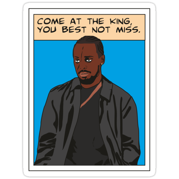 Omar Little as comic, The wire (blue) by D4RK0