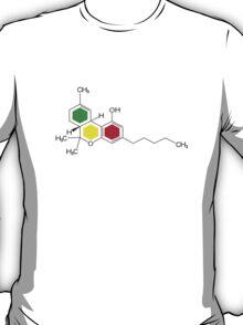 THC Molecules (cannabis marijuana) T-Shirt