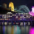 Vivid Sydney 2012 - Chandelier and Harbour Bridge by Andi Surjanto