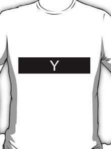 Alphabet Collection - Yankee Black T-Shirt