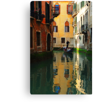 Reflections Of Venice Canvas Print