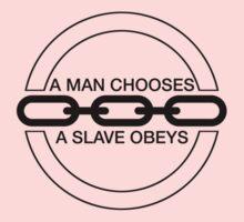 Man or Slave (Black) Kids Clothes