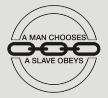 Man or Slave (Black) by Midgetcorrupter