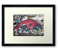 In the belly of a giant fish Framed Print