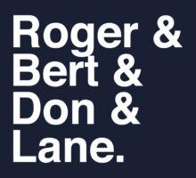 Roger & Bert & Don & Lane Mad Men T-Shirt Kids Clothes