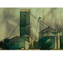 Grain Elevator at Ware Illinois Photographic Print