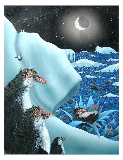 Penguins playing by Junga