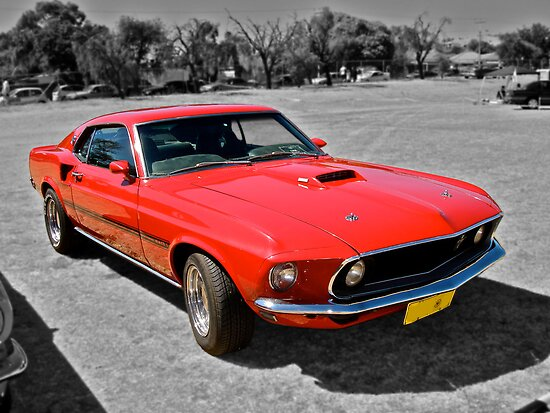 Red Mach 1 Ford Mustang by Ferenghi