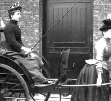 Women Pulling Cart Sticker