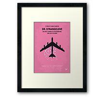 No025 My Dr Strangelove minimal movie poster Framed Print
