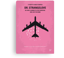 No025 My Dr Strangelove minimal movie poster Canvas Print